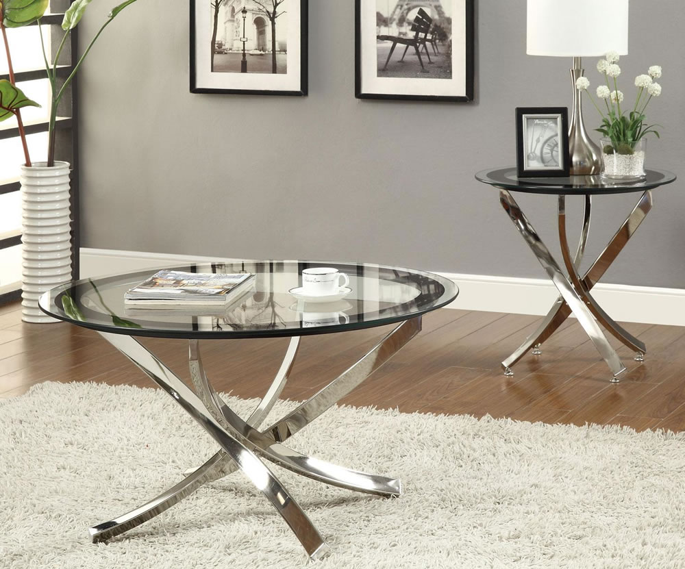 Silver-glass-coffee-table-is-a-luminous-element