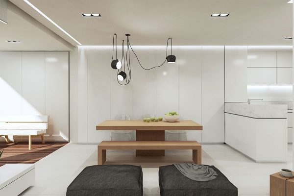 black-multi-light-pendant-dining-lighting-600x400