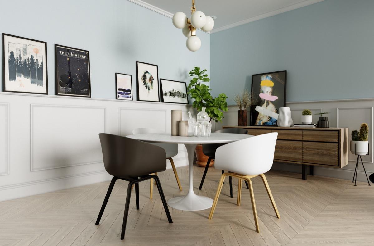 French-dado-panelling-Scandinavian-dining-room