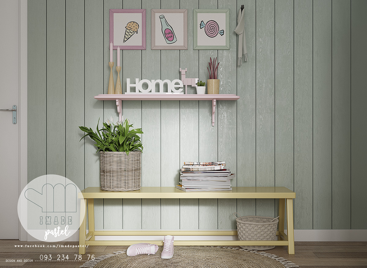 lemon-bench-teal-wall-home-entrance